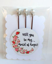 Maid of Honor Bobby Pin Set