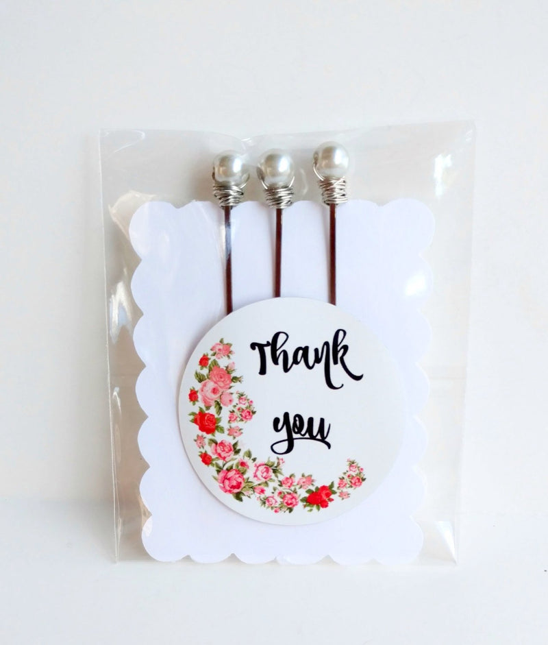 """Thank You"" Bobby Pin Set"