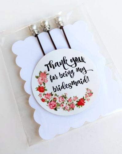 """Thank you for being my bridesmaid"" Bobby Pin Set"