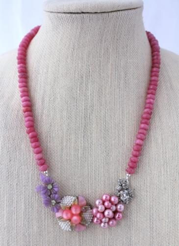 pink and purple statement necklace