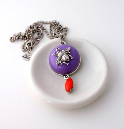 Purple Bee Necklace