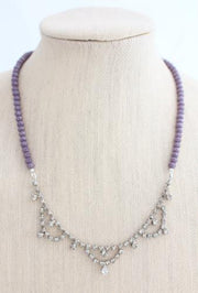 Purple Upcycled Statement Necklace - bel monili, Pittsburgh PA, country living fair, vintage market days