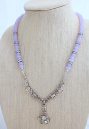 handmade recycled rhinestone necklace