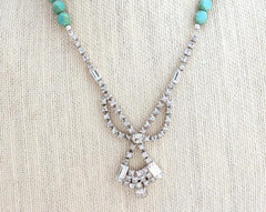 Turquoise Vintage Statement Necklace - bel monili, Pittsburgh PA, country living fair, vintage market days