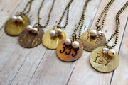 Miner Tag/Tool Tag Necklace - bel monili, Pittsburgh PA, country living fair, vintage market days