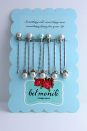 Bridal Pearl Bobby Pin Set - bel monili, Pittsburgh PA, country living fair, vintage market days