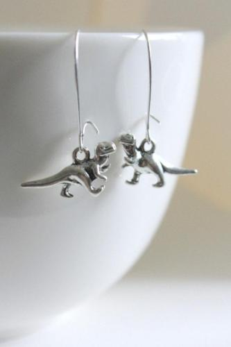 T Rex Dinosaur Earrings
