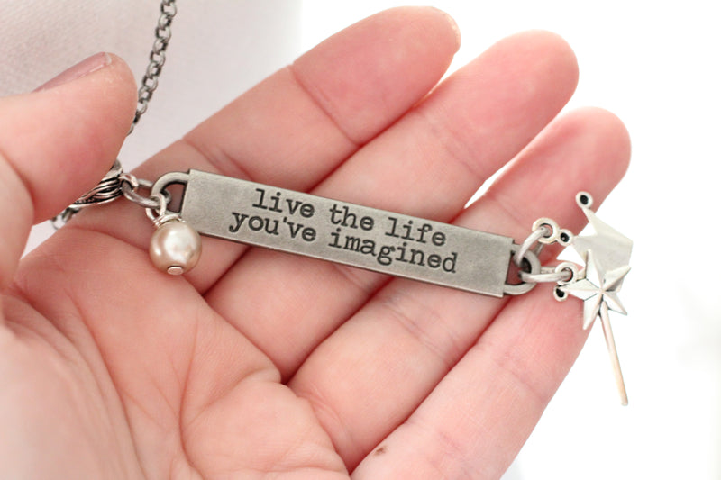 Wholesale Package: Inspirational Quote Necklcae - bel monili, Pittsburgh PA, country living fair, vintage market days