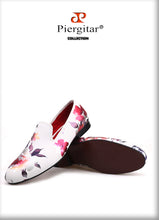 White Begonias Handmade Men Loafers