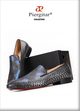 New Serpentine Print Men Genuine Leather shoes