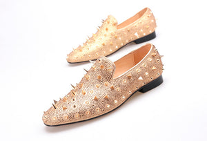 Spikes and Diamonds Men Luxury Loafers