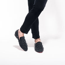 Black Spikes Red Bottom Handmade Loafers