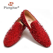 Red Spikes Red Bottom Handmade Loafers