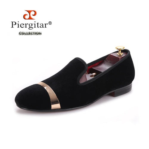 New Style Men Velvet Shoes with Copper Buckle