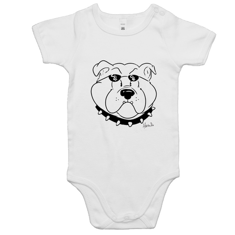 Cartoon Bulldog - Baby Onesie Romper