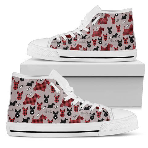 Tartan Terrier - Scottish Terrier - Womens High top shoes (w)