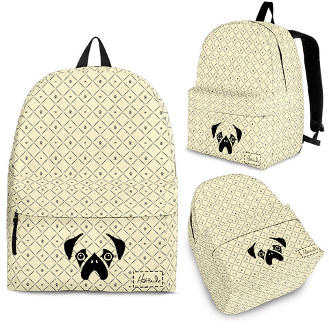 Golden Pug Backpack