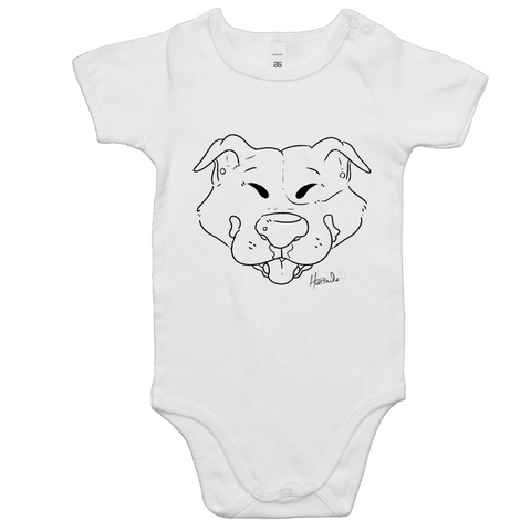 Cartoon Stafordshire Terrier - Baby Onesie Romper