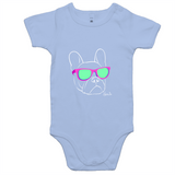 Retro - French Bulldog - Baby Onesie Romper