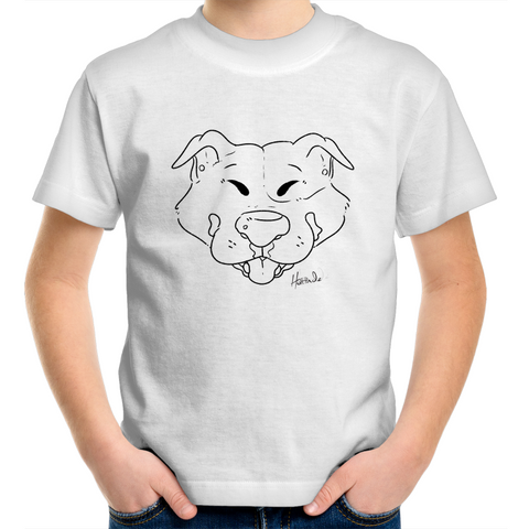 Cartoon Staffordshire terrier - Kids Youth T-Shirt