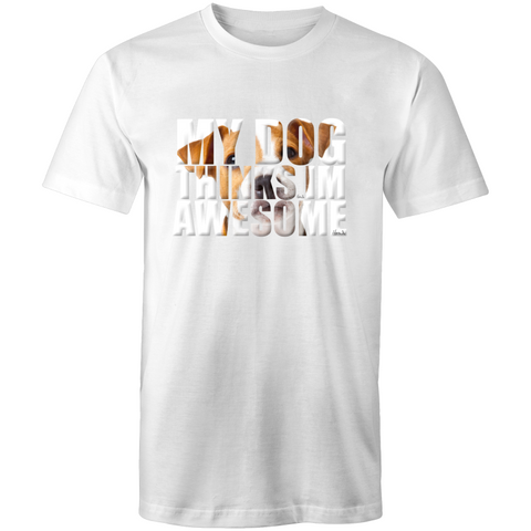 My Dog thinks Im Awesome -  Jack Russel - Mens T-Shirt