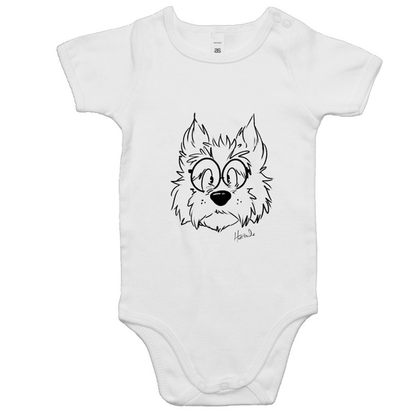 Cartoon Scottish Terrier - Baby Onesie Romper