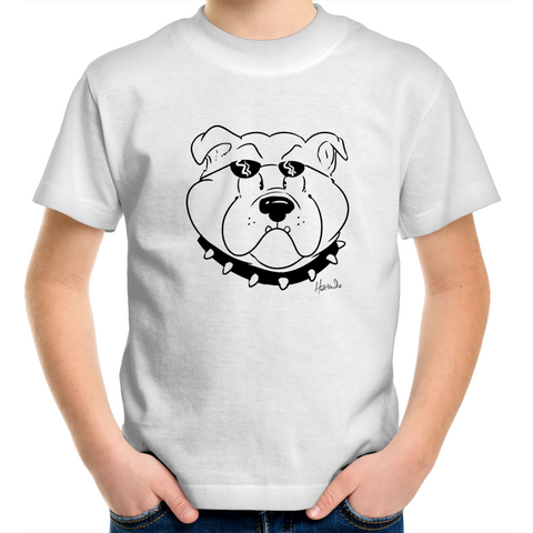 Cartoon Bulldog - Kids Youth T-Shirt