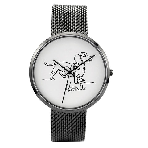 Signature - Dachshund - 30 Meters Waterproof Quartz Fashion Watch With Casual Stainless Steel Band