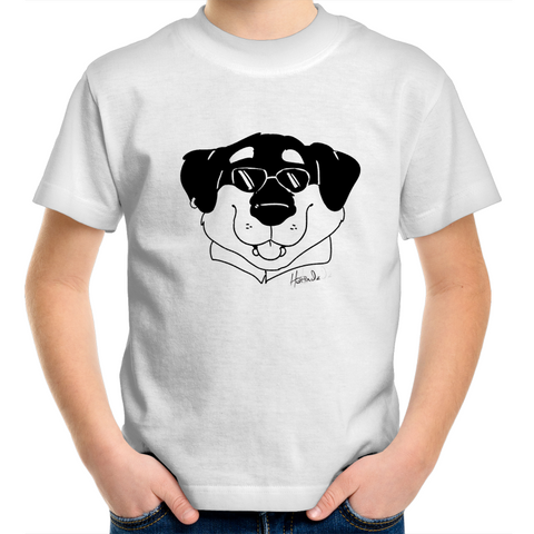 Cartoon Rottweiler - Kids Youth T-Shirt