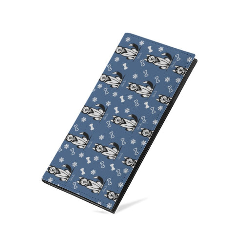 Prints - Husky PU Leather Multi-Card Long Bifold Wallet