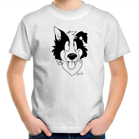 Cartoon Border Collie - Kids Youth T-Shirt