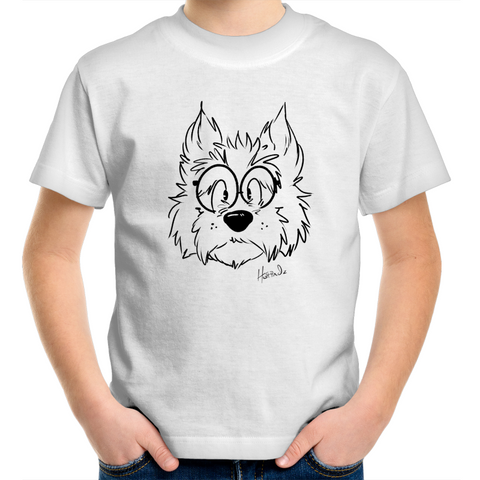 Cartoon Scottish Terrier - Kids Youth T-Shirt