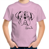 Bulldog Face - Kids Youth T-Shirt