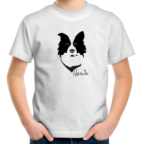 Vector - Border Collie - Kids Youth T-Shirt