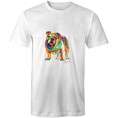 Pop Art - Bulldog (fb) - Mens T-Shirt