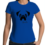 Faces - Pug - Womens T-shirt