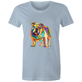 Pop Art - Bulldog (fb) - Womens T-shirt