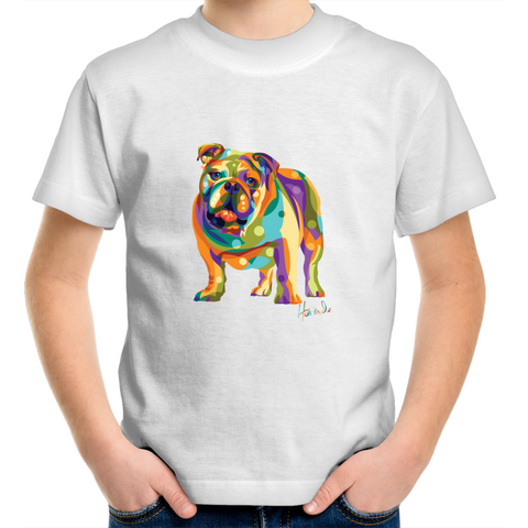 Pop Art- Bulldog (fb) - Kids Youth T-Shirt