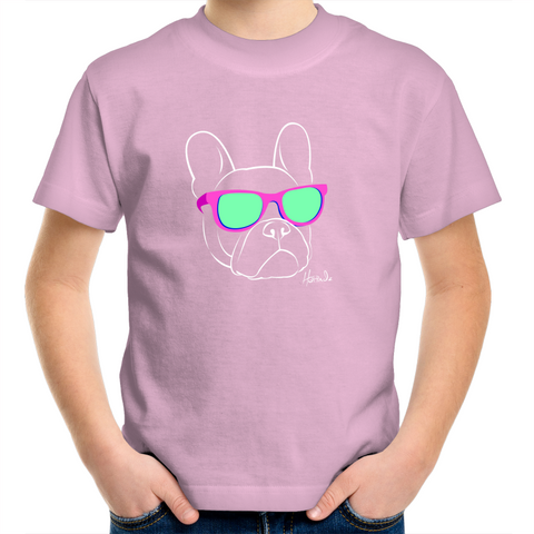 Retro - French Bulldog - Kids Youth T-Shirt