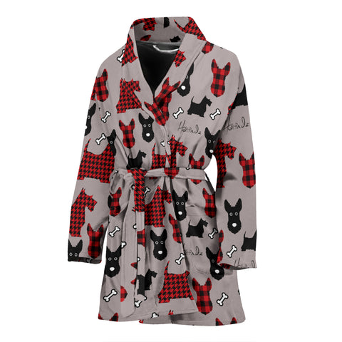 Tartan Terrier - Scottish Terrier - Woman Bathrobe