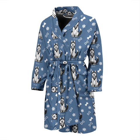Icesky - Husky - Mens Bathrobe