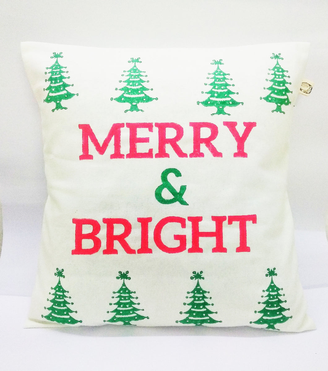 Merry & Bright cushion cover