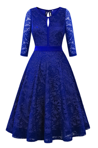 BBX Lephsnt Women's Vintage Floral Lace 3/4 Sleeve Party Dress Cocktail Formal Swing Dress