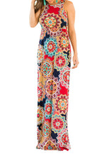 BBX Lephsnt Boho Womens Dresses Retro Floral Print Sleeveless Party Cocktail Dress Summer Maxi Dress …