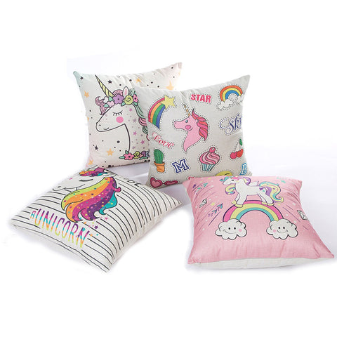 Cute Unicorn Rainbow & Pastels Cushion Cover