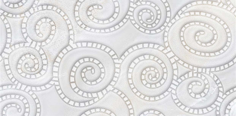 Sphere Bianco Decor 40x80cm Porcelain Wall Tile (4011)