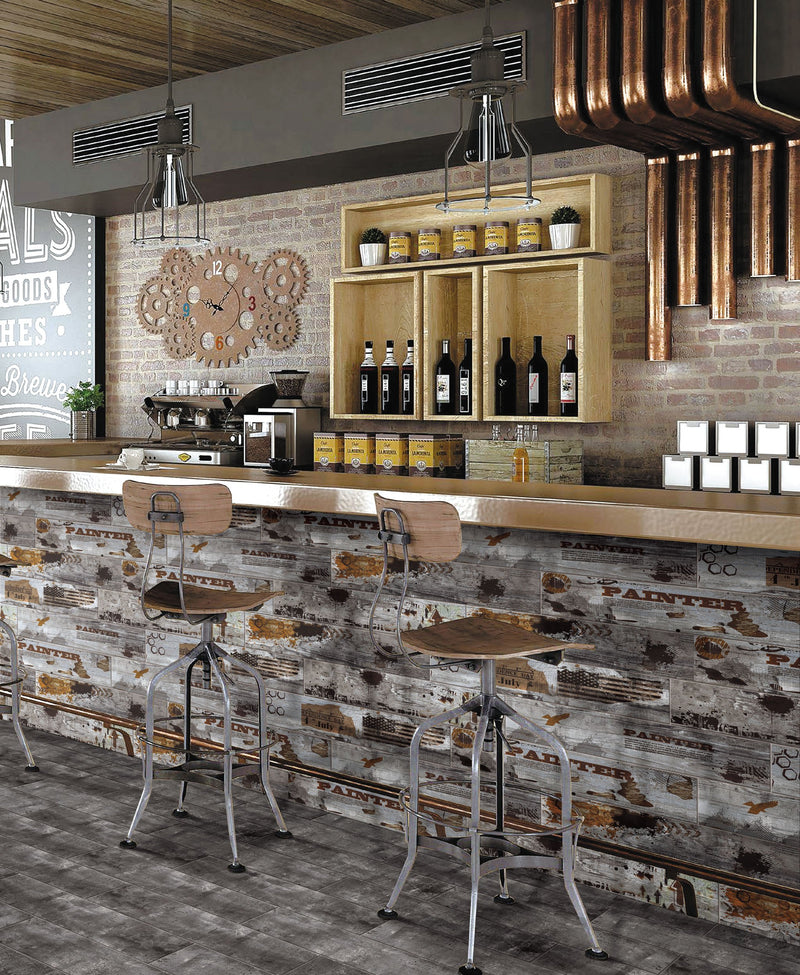 Wild West Wood Effect Glazed Wall and Floor Tile