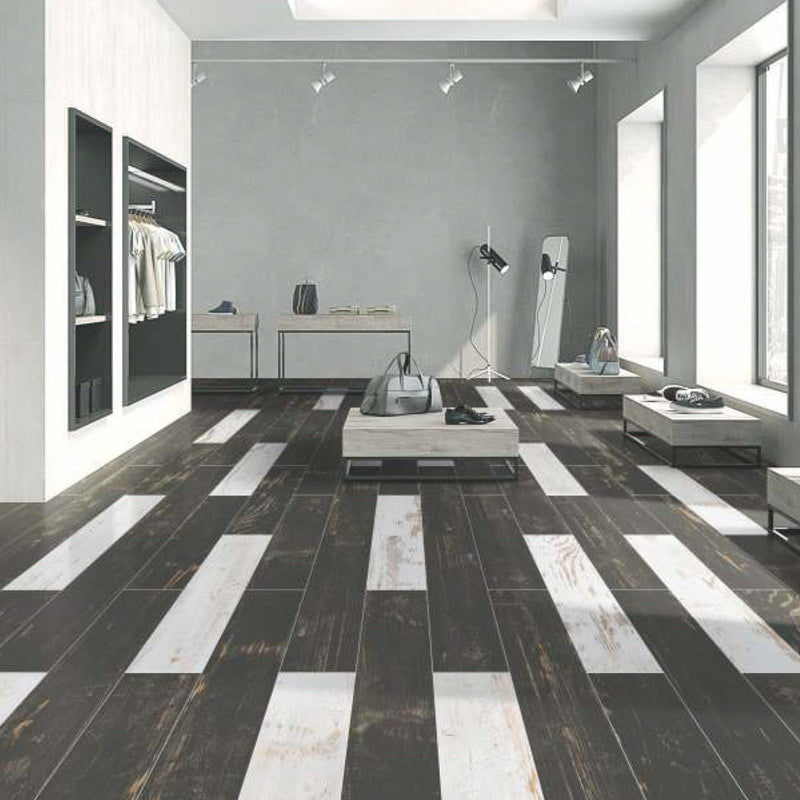 Miami Black 20x120cm Porcelain Wall and Floor Tile (Wood Collection)
