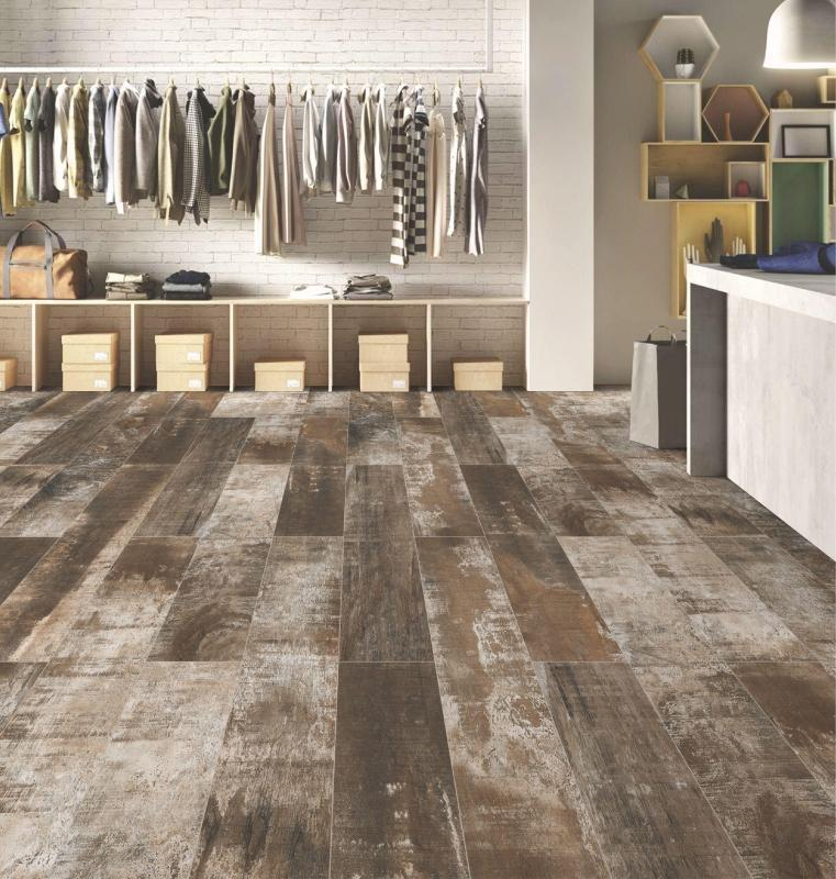 New Port Brown 20x120cm Porcelain Wall and Floor Tile (Wood Collection)