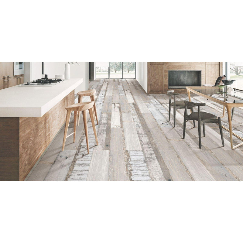 Old Wood White 20x120cm Porcelain Wall and Floor Tile (Wood Collection)